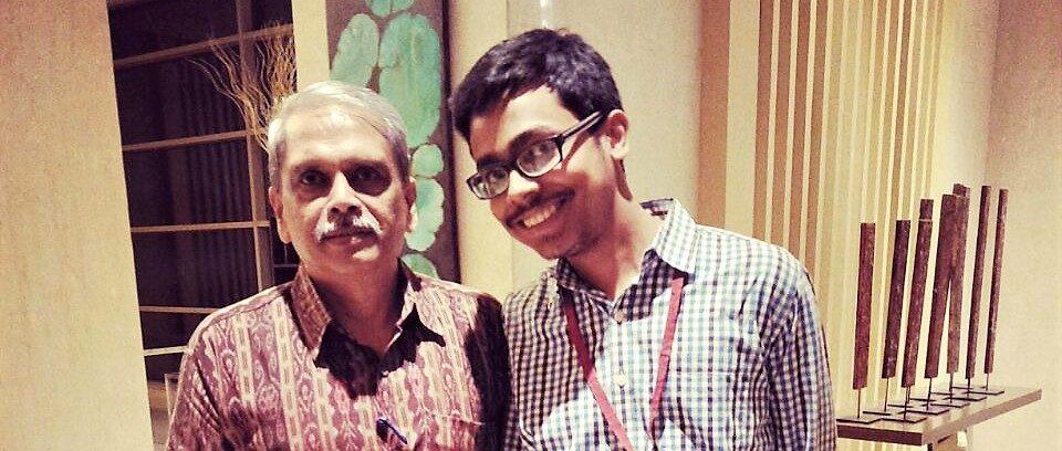 Tathagata Bandyopadhyay With Infosys co-founder Kris Gopalakrishnan