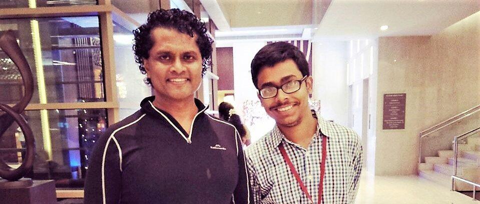 Tathagata Bandyopadhyay With Prof. Partha Mitra of Cold Spring Harbor Laboratory, USA.